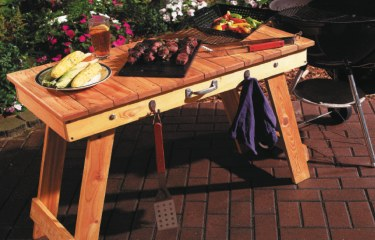 After This Collapsible Cedar Table Was Built, Our Family Wondered How We  Ever Grilled Without It. The Legs Rest Under The Top For Quick Storage Or  Carrying ...
