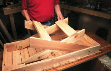 Grill table plans free woodworking plan to build your own test the fit of the legs in the frame by pulling the legs up from the frame if they bind and scrape sand the sides for a smoother fit watchthetrailerfo