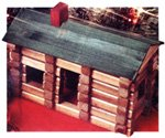 log cabin woodworking plan