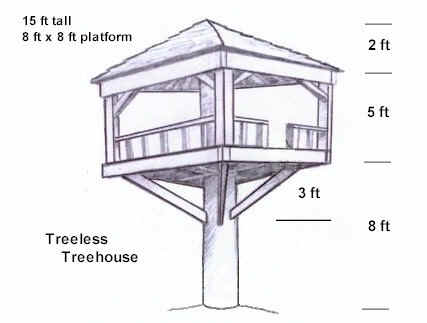 KIDS CLUB HOUSE PLANS   FREE FLOOR PLANS Tree House Pictures  Play Club Plans to Big Kid Houses