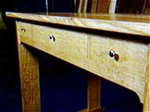 arts and crafts desk - craftsman style library table