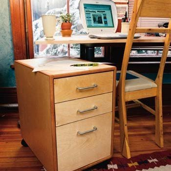 Rolling File Cabinet Plans