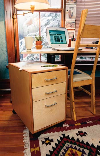 rolling file cabinet woodworking plan