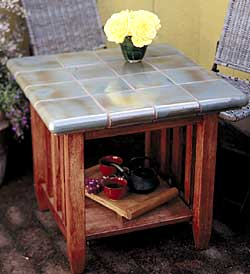 Tile a table top