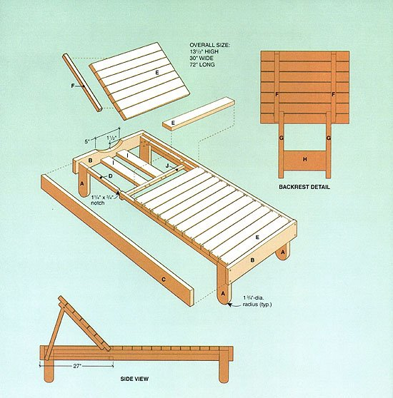Plans for wood lounge chair free download pdf woodworking for Building a chaise lounge