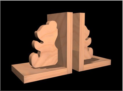 Bookend Pattern - Woodwork City Free Woodworking Plans