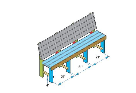 Garden Bench Plan » Woodwork City