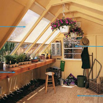 Solar shed kit interior picture