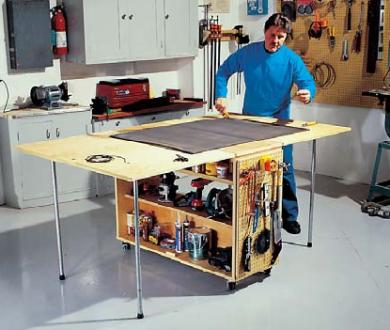 Folding work bench plans. - Woodwork City Free Woodworking Plans