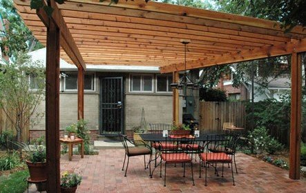Pergola over a Deck Project