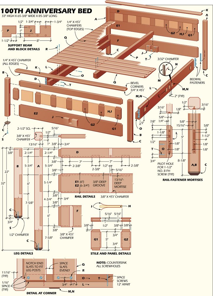 Free Woodworking Plans Bed Frame