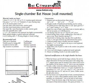 Learning knowing Easy to build bat house plans
