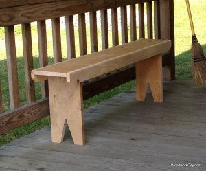 simple deck bench