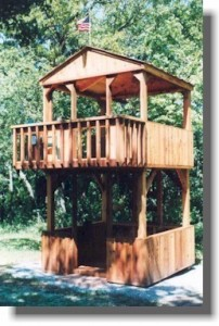 2 Story fort plans. Play set tower