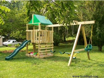 Free Wooden Playset Swing Set Plans