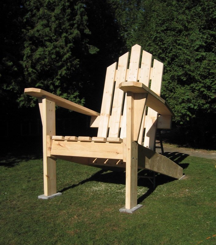 Giant Adirondack Chair 4 & 12 Foot Adirondack Chair! - Woodwork City Free Woodworking Plans