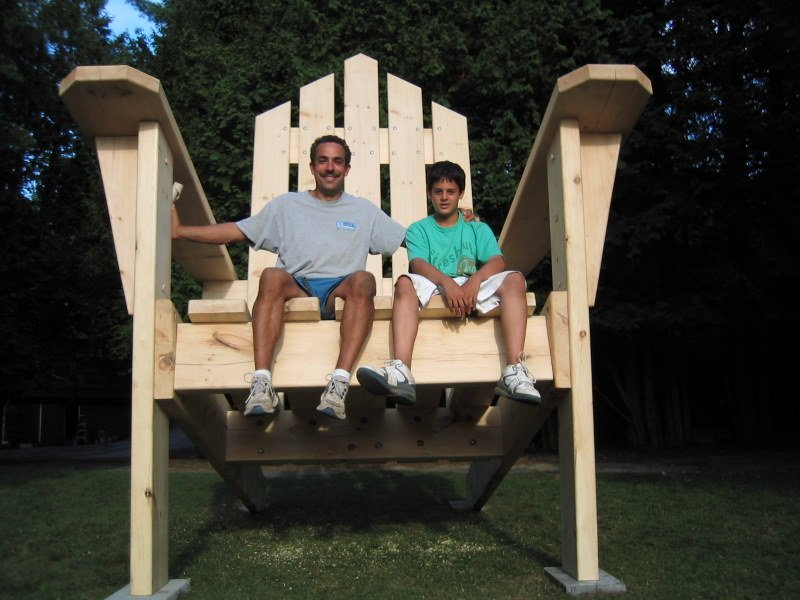 12 Foot Adirondack Chair Woodwork City Free Woodworking Plans