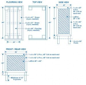 Trash Can Screen Plans