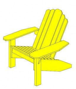 Adirondack Chair Dog Ear