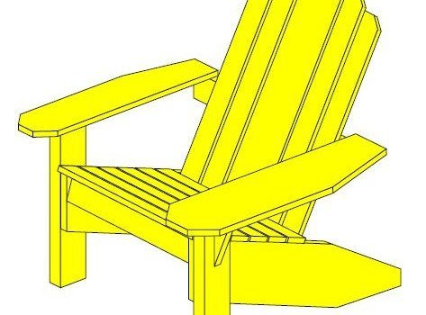 Adirondack Chair, Footstool, and Table Plans