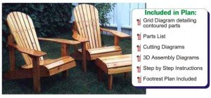 Adirondack chair plans from Jet Tools
