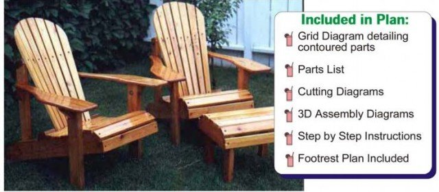Adirondack Chair Plan – Jet Tools