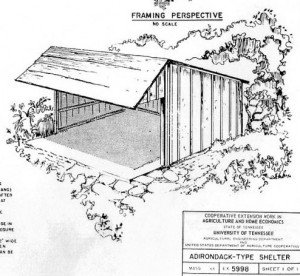 Adirondack shelter Plan - Open air