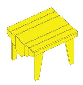 Adirondack chair footstool and table plans woodwork for Adirondack side table plans