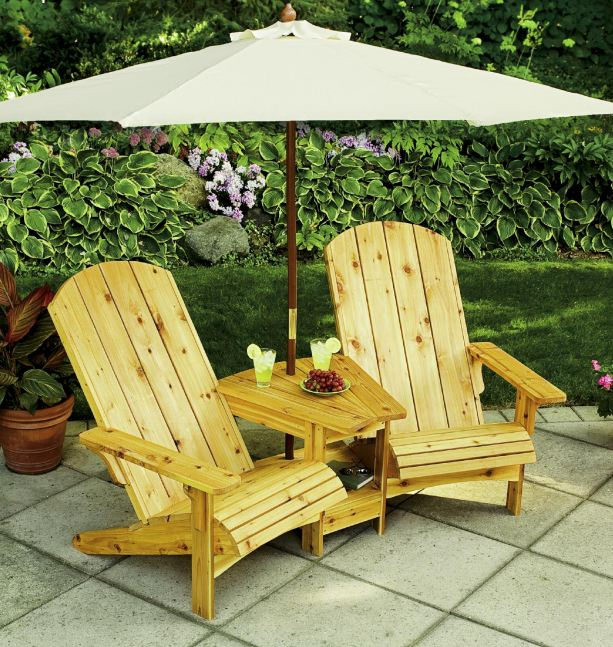 Double Adirondack Chair - Settee Plans - Woodwork City ...