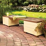 Bench Plans with Storage – Outdoor