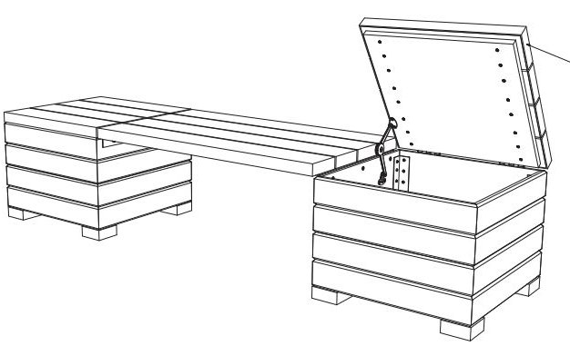 Bench Plans with Storage - Outdoor - Woodwork City Free Woodworking ...
