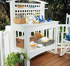 Gardeners Bench with Arch