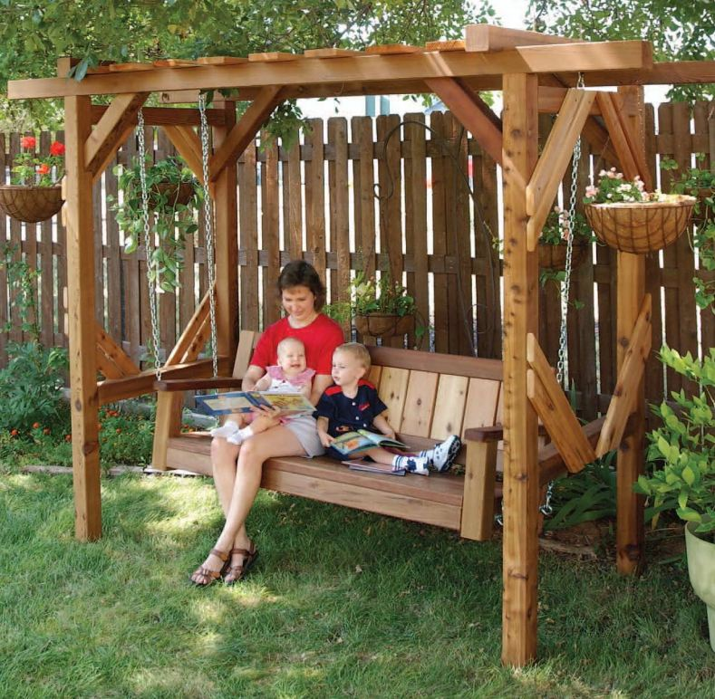 Download Porch Swing Pergola Plans PDF pole construction