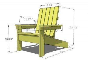 Children's Adirondack Chair Plans