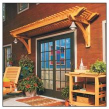 Wall pergola plans - Above a window or door