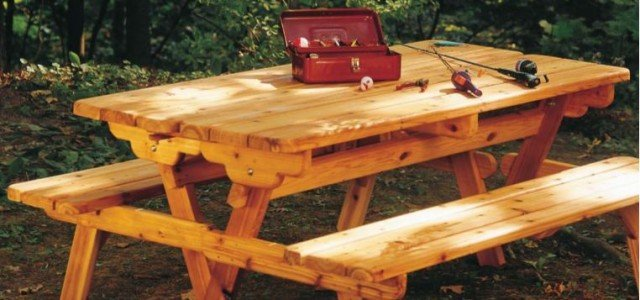 Fabulous Picnic Table Plans Convert To Benches Woodwork City Free Gmtry Best Dining Table And Chair Ideas Images Gmtryco