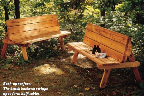 Astonishing Picnic Table Plans Convert To Benches Woodwork City Free Gmtry Best Dining Table And Chair Ideas Images Gmtryco