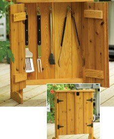 Free Barbecue Tool Cabinet Plans
