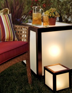Outdoor lighted table plans