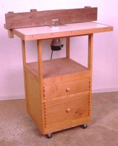 free standing router table plans