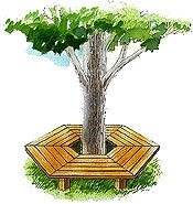 Free Tree Bench Plans