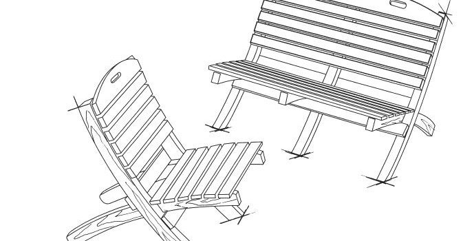 Free Garden Chair and Bench Plans