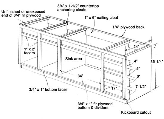 Wood furniture plans page 43 get free plans to build for Building kitchen cabinets in place