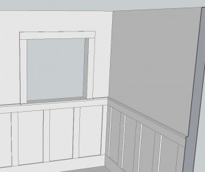 Frame and panel wainscoting plans