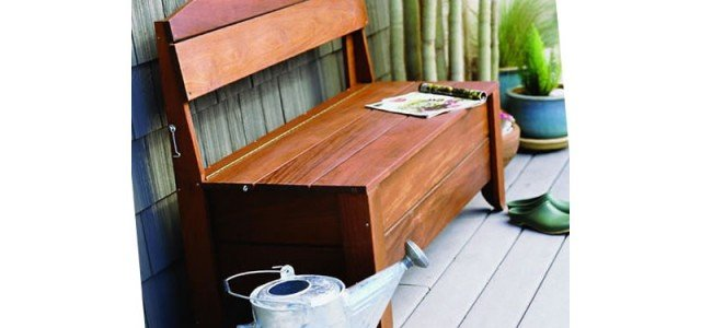 Beautiful Outdoor Storage Bench Plans