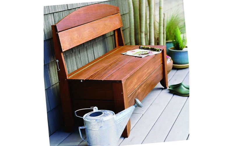 beautiful outdoor storage bench plans - woodwork city free, Garten ideen