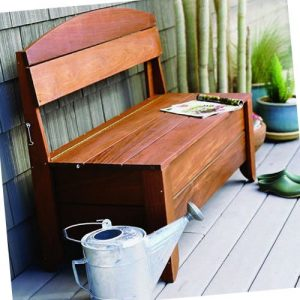 Beautiful and simple outdoor storage bench plans