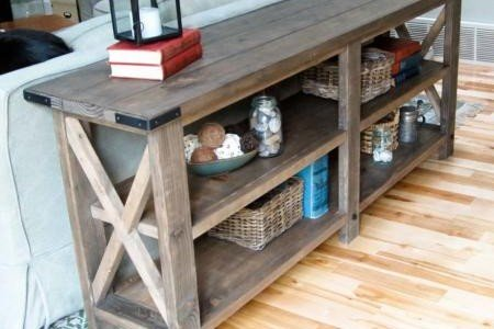 Sofa Table | X Console Table Plans