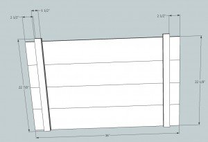 fold down sideboard plan shelf face