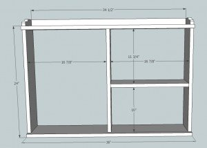 fold down sideboard plan front viewq